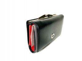 Кошелёк женский кожаный Petek 8072 A Black/Red_3