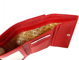 Кошелёк женский кожаный Petek 8072 A Black/Red_9