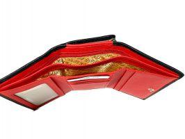Кошелёк женский кожаный Petek 8072 A Black/Red_8