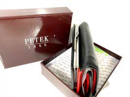 Кошелёк женский кожаный Petek 8072 A Black/Red_1