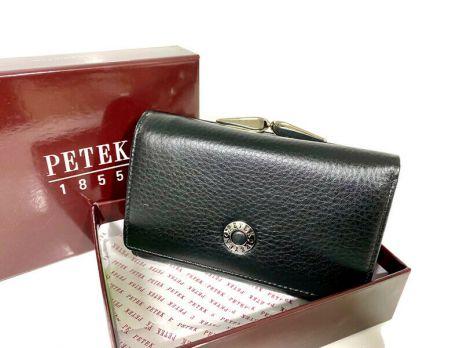 Кошелёк женский кожаный Petek 8072 A Black/Red