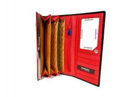 Кошелёк женский кожаный Petek 8071 A Black/Red_6