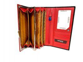 Кошелёк женский кожаный Petek 8071 A Black/Red_7