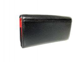 Кошелёк женский кожаный Petek 8071 A Black/Red_5