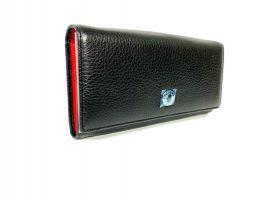 Кошелёк женский кожаный Petek 8071 A Black/Red_3