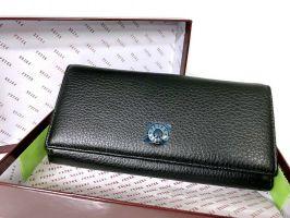 Кошелёк женский кожаный Petek 8071 A Black/Red_1