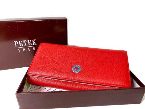Кошелёк женский кожаный Petek 8071 E Red