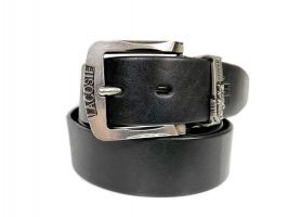 Ремень кожаный брендовый Lacoste 1452_1