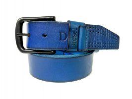 Ремень кожаный брендовый Diesel 1454 blue