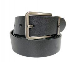Ремень кожаный брендовый Montblanc black 1469_1