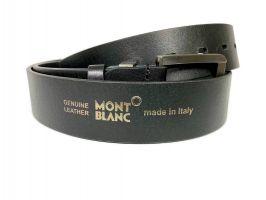 Ремень кожаный брендовый Montblanc black 1469_4