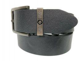 Ремень кожаный брендовый Montblanc black 1469_2