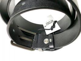 Ремень кожаный брендовый Montblanc black 1469_3