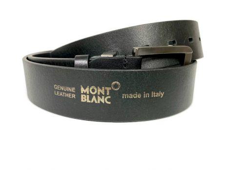 Ремень кожаный брендовый Montblanc black 1469