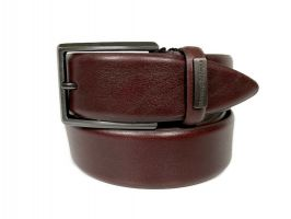 Ремень кожаный брендовый Ermenegildo Zegna 1472_0