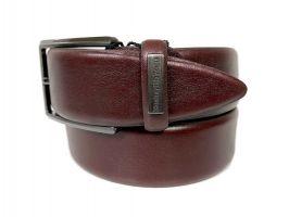 Ремень кожаный брендовый Ermenegildo Zegna 1472_2