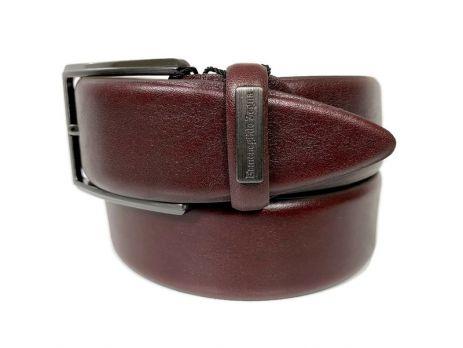 Ремень кожаный брендовый Ermenegildo Zegna 1472