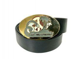 Ремень кожаный брендовый Moschino Love 1474_0