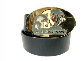 Ремень кожаный брендовый Moschino Love 1474_1