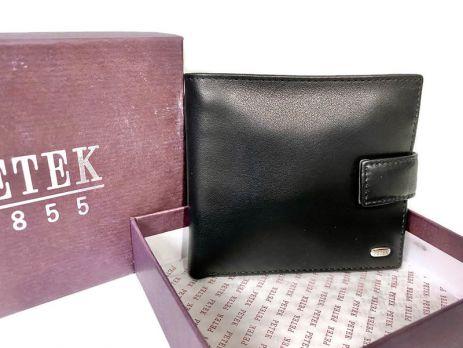 Портмоне мужское кожаное Petek 1717 A Black