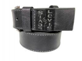 Кожаный ремень Levis black 1485_2
