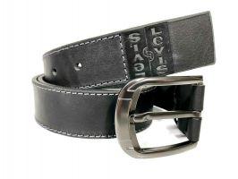 Кожаный ремень Levis black 1485_3