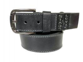 Кожаный ремень Levis black 1485_0