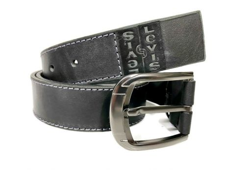 Кожаный ремень Levis black 1485