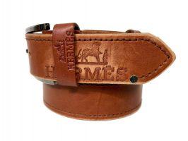 Кожаный ремень брендовый Hermes 1490_2