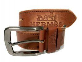 Кожаный ремень брендовый Hermes 1490_3