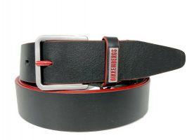 Ремень кожаный брендовый Dirk Bikkembergs 1491red_0