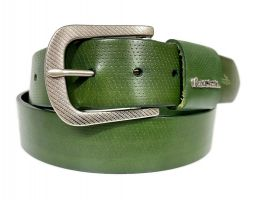 Ремень кожаный брендовый Paul Smith 1492 green_1