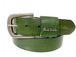 Ремень кожаный брендовый Paul Smith 1492 green_0