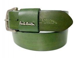 Ремень кожаный брендовый Paul Smith 1492 green_2