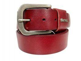 Ремень кожаный брендовый Paul Smith 1493 red_1