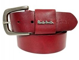Ремень кожаный брендовый Paul Smith 1493 red_0