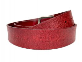 Ремень кожаный брендовый Paul Smith 1493 red_5
