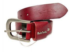 Ремень кожаный брендовый Paul Smith 1493 red_3
