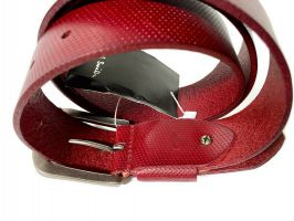 Ремень кожаный брендовый Paul Smith 1493 red_4