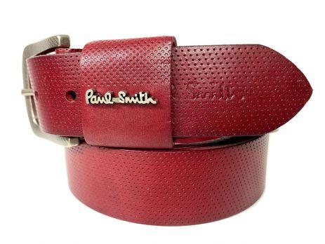 Ремень кожаный брендовый Paul Smith 1493 red