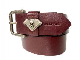 Ремень кожаный брендовый Philipp Plein 1505_2