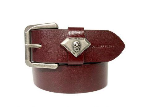 Ремень кожаный брендовый Philipp Plein 1505