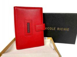 Обложка на паспорт и автодокументы Nicole Richie 5173 red