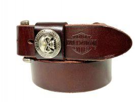 Ремень кожаный брендовый Harley Davidson 1521 bordo_2