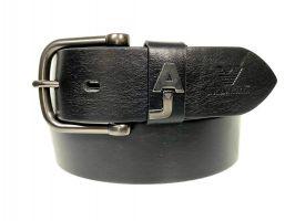 Кожаный брендовый ремень Armani 1526 black