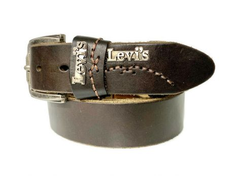 Ремень кожаный брендовый Levis 1532 brown