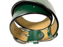 Ремень кожаный женский 1539 green_3