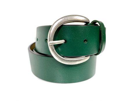 Ремень кожаный женский 1539 green