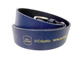 Ремень кожаный брендовый Columbia blue 1544_4
