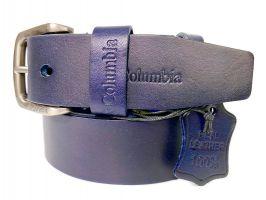 Ремень кожаный брендовый Columbia blue 1544_2